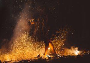 Elément feu associé au chakra du plexus solaire